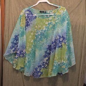 Apt 9 women's 2x sheer blouse